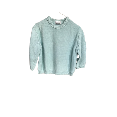 Pale Mint Cropped Knit by Acne