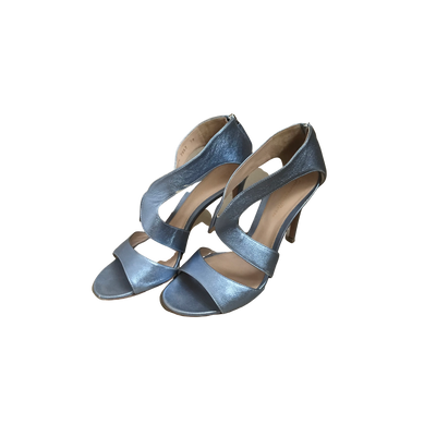Light Blue Metallic Sandals by Gianvito Rossi