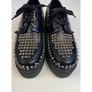 Black Studded Platforms by Underground