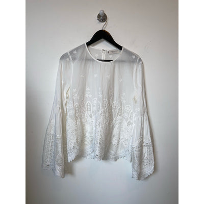 White Lace Blouse by Malina
