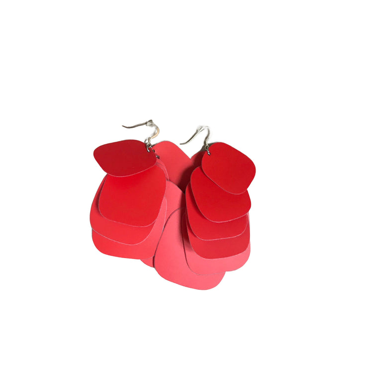 Red POW Earrings (size Medium)