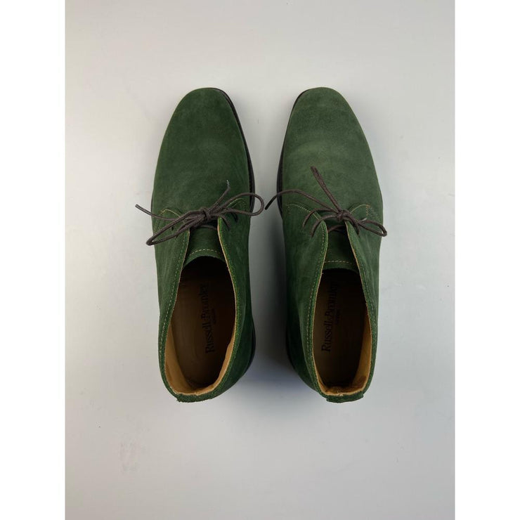 Green Suede Boots by Russel & Bromley