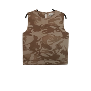 "Structured ""Scuba"" Gold Camouflage Top by Acne"