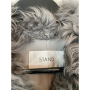 Grey Fur Jacket by STAND
