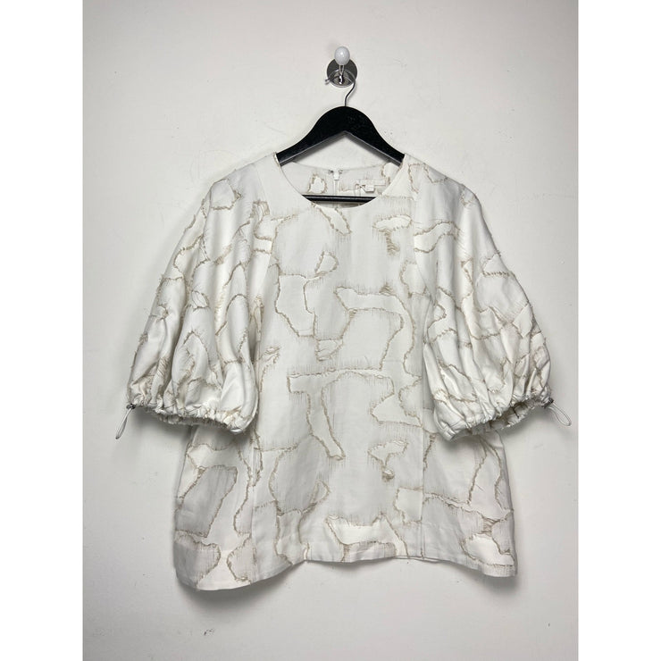 White Ballon Sleeve Top by Cos