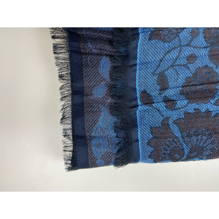 Blue Printed Scarf by No Label