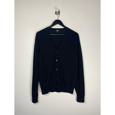 Black Cardigan Knitwear by Uniqlo