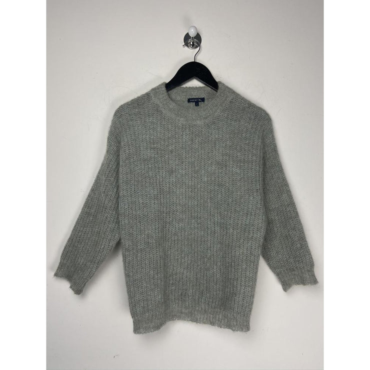 Grey Crewneck Knitwear by Soeur