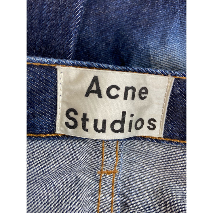 Blue Straight Leg 'Van Three' Jeans by Acne