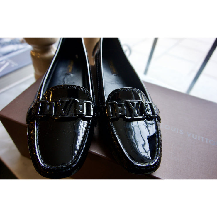 Shiny Black Loafers by Louis Vuitton (new with box)
