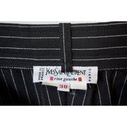 Vintage Black Pinstriped Wool Pants by Yves Saint Laurent