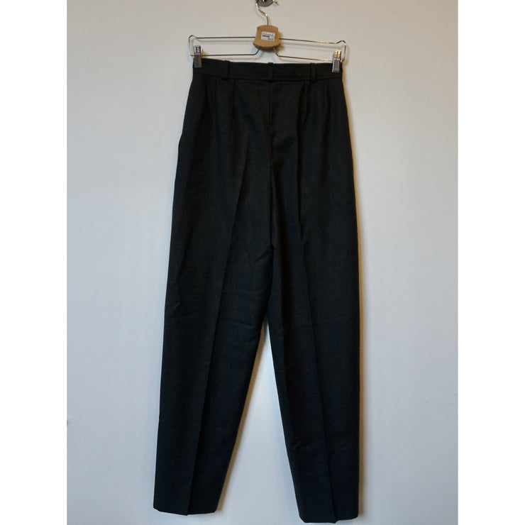 Vintage Grey High Waist Wool Pants by Yves Saint Laurent