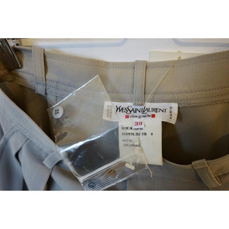 Vintage Beige High Waist Pants by Yves Saint Laurent (With original tags).