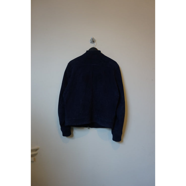 Navy Suede Jacket by Frame