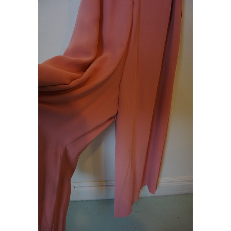 Pink Wide Leg Jumpsuit by Massimo Dutti