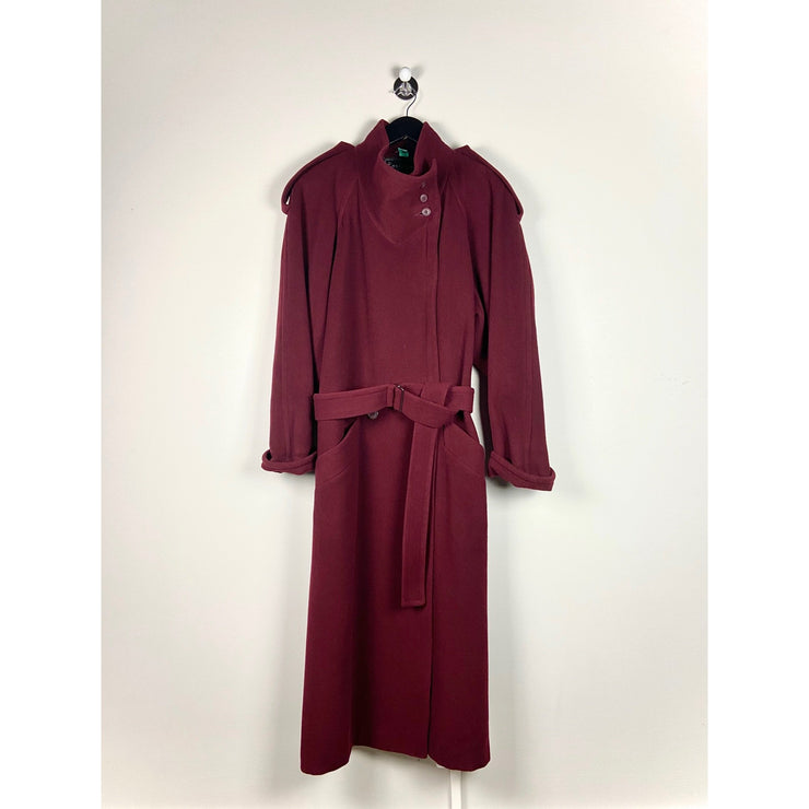 Burgundy Cashmere Coat by Wollis