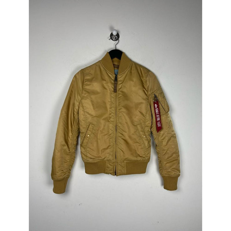 Gold Bomber Jacket by Alpha Industries