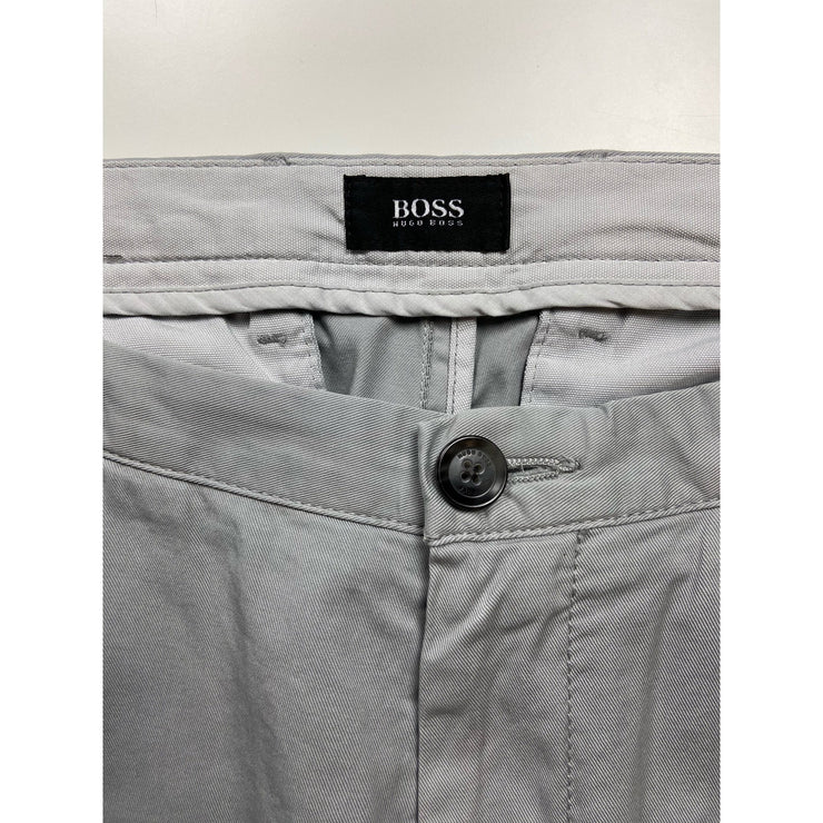 Grey Tapered Pants by Hugo Boss