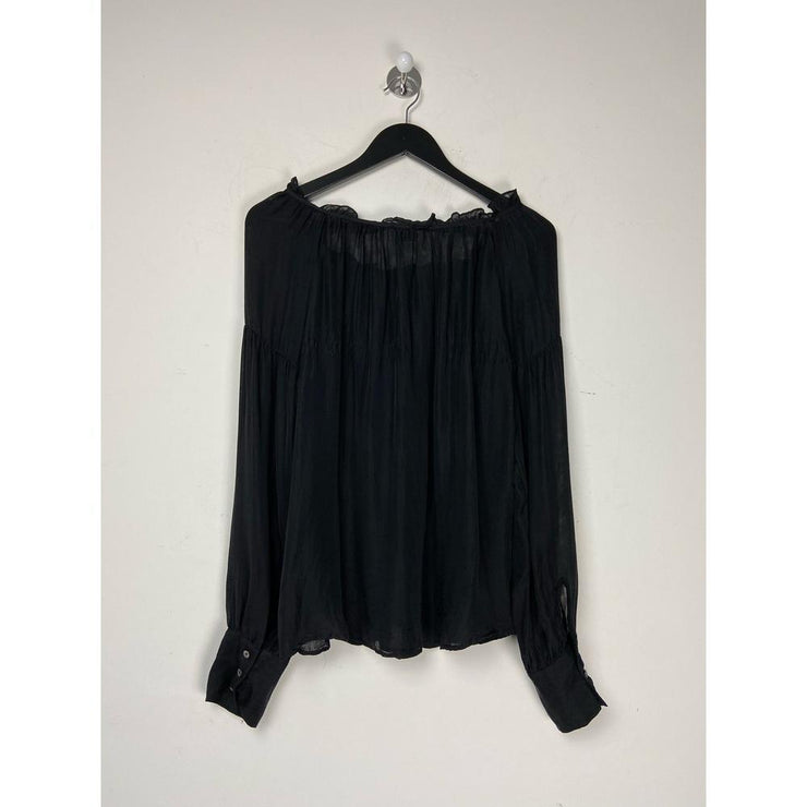Black Blouse by Frame