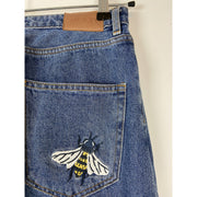 Blue High Waist Jeans by Monki