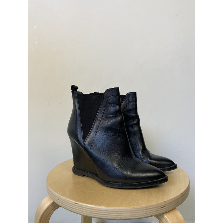 Black Ankle Boots by Zign