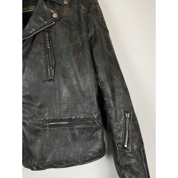 Black Biker Jacket by Ralph Lauren