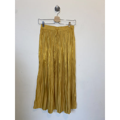 Yellow Shiny Midi Skirt by H&M
