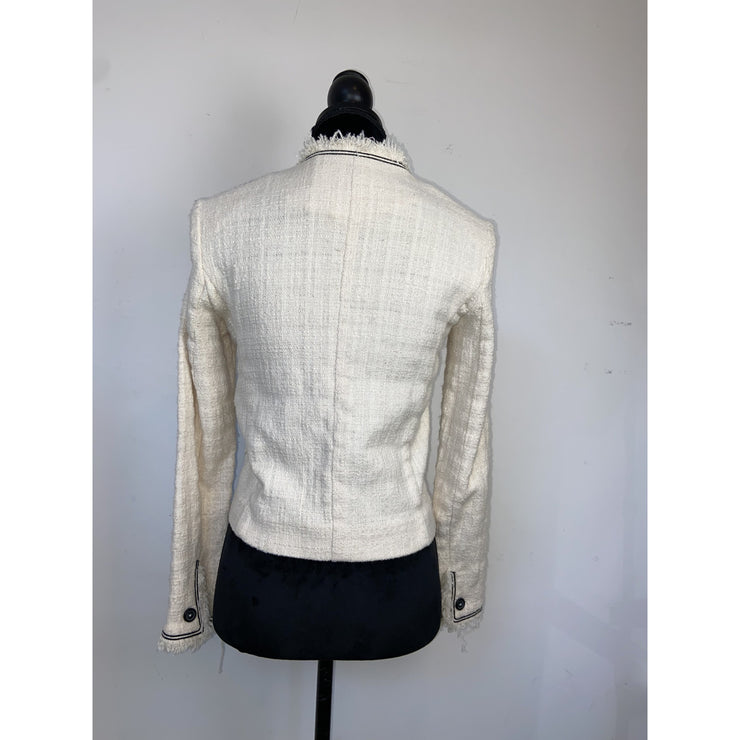 Off-White Bouclé Jacket by Isabel Marant Etoile