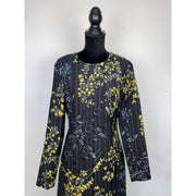 Black Dress with Yellow Flower Pattern by Marni