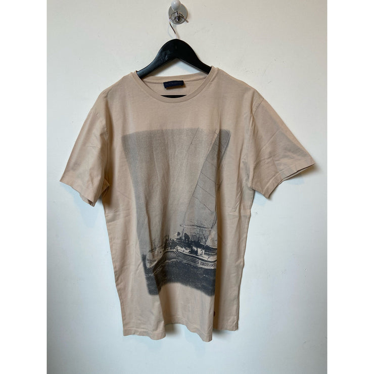 Beige T-shirt by Trussardi