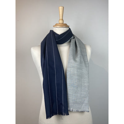 Striped Printed Scarf by No Label