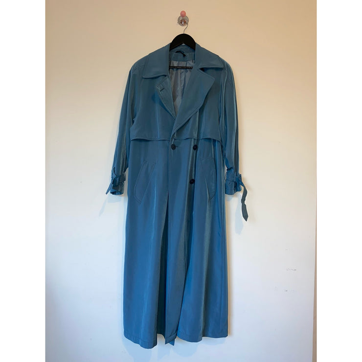 Dove Blue Vintage Trenchcoat