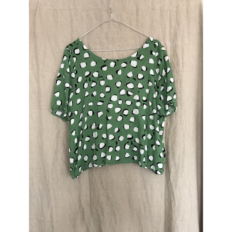 Green Dot Blouse by Rodebjer