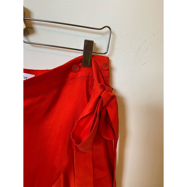 Red Satin Skirt by Rodebjer