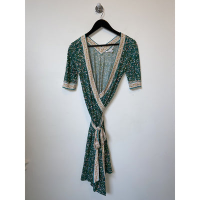 Green Wrap Dress by Diane von Furstenberg