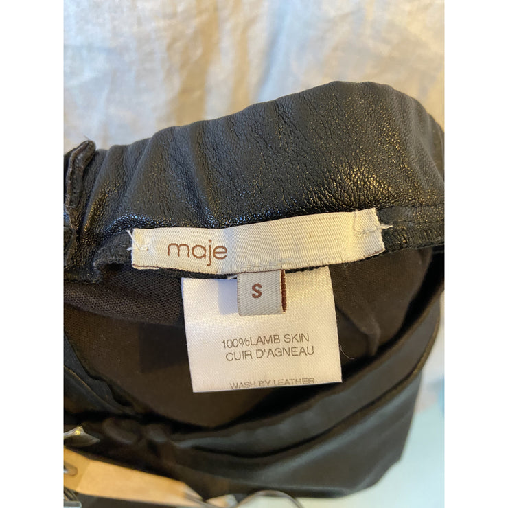 Leather Leggings by MAJE