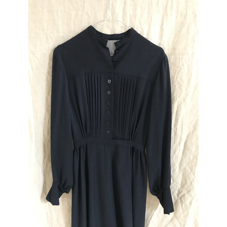 Tailored Navy Vintage Midi Dress