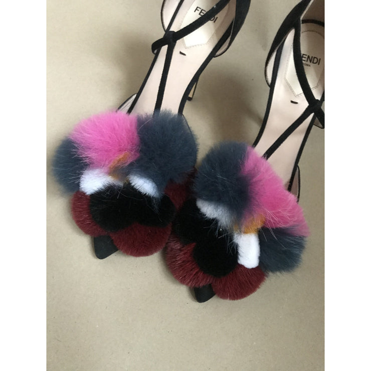 Fluffy Fur Sandals by Fendi