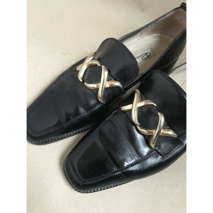 Black Vintage Loafers by Rizzo
