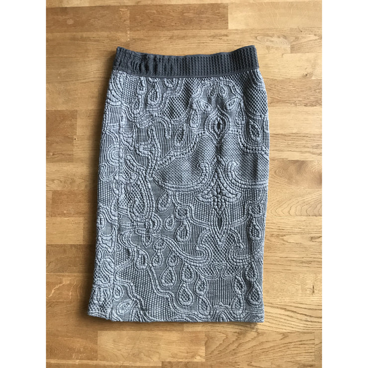 Grey Patterned Pencil Skirt by Rodebjer