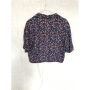 Flower Patterned Cropped Blouse by Pull & Bear