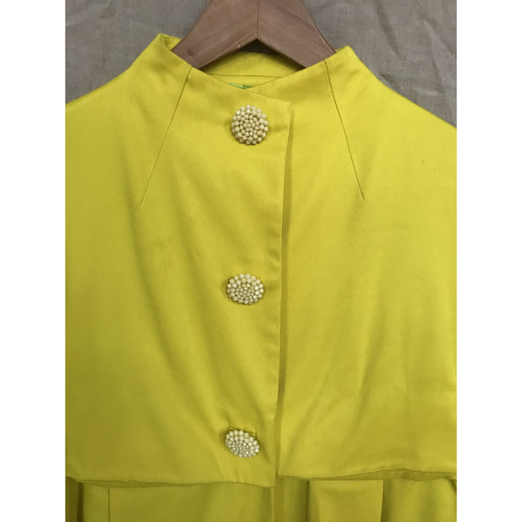 Yellow Justina Coat by Malene Birger