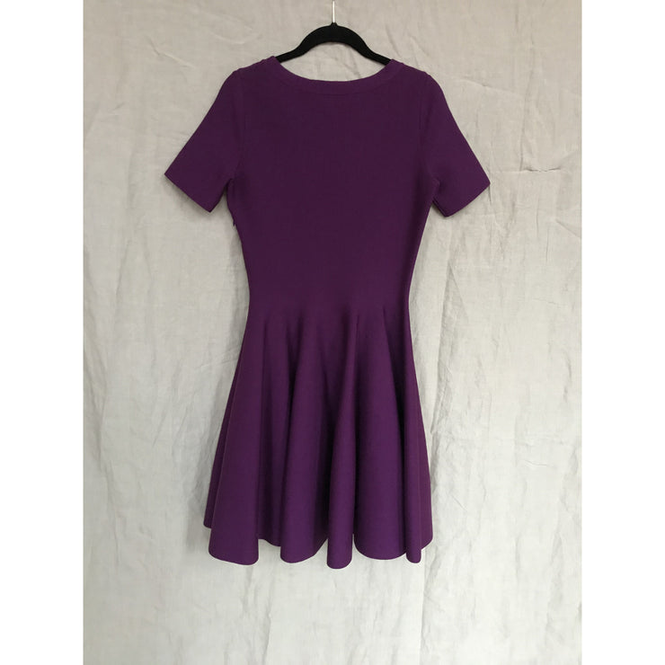 Purple Structured Dress by Yves Saint Laurent