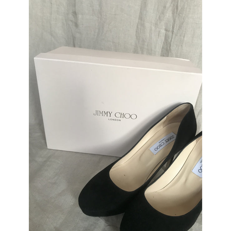 Black Suede Pumps by Jimmy Choo