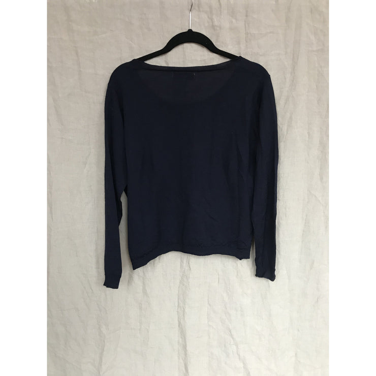 Navy Merino Wool Sweater by Whyred