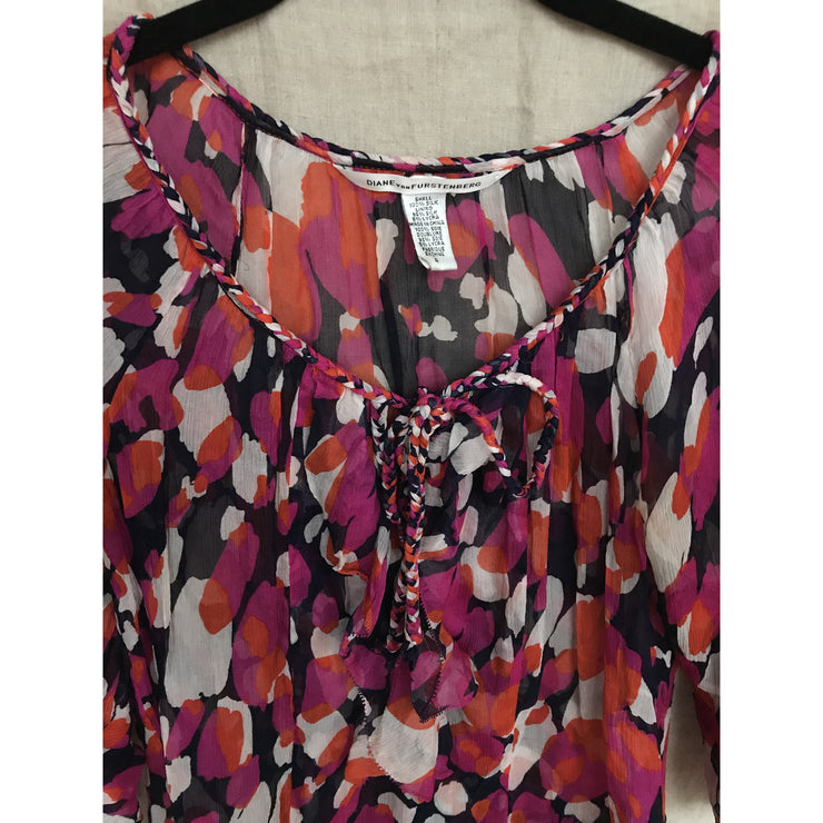 Colorful Silk Top by Diane von Furstenberg