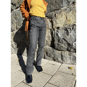 Grey Straight Leg Jeans by Ganni