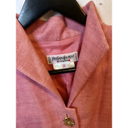 Vintage Gold Detailed Pink Blazer by Yves Saint Laurent
