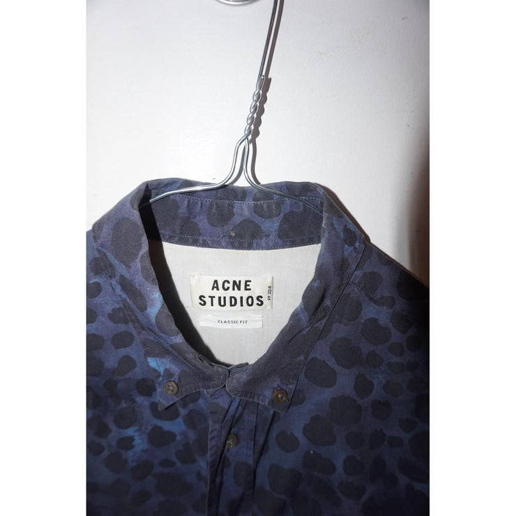 Blue Printed Shirt by Acne Studios