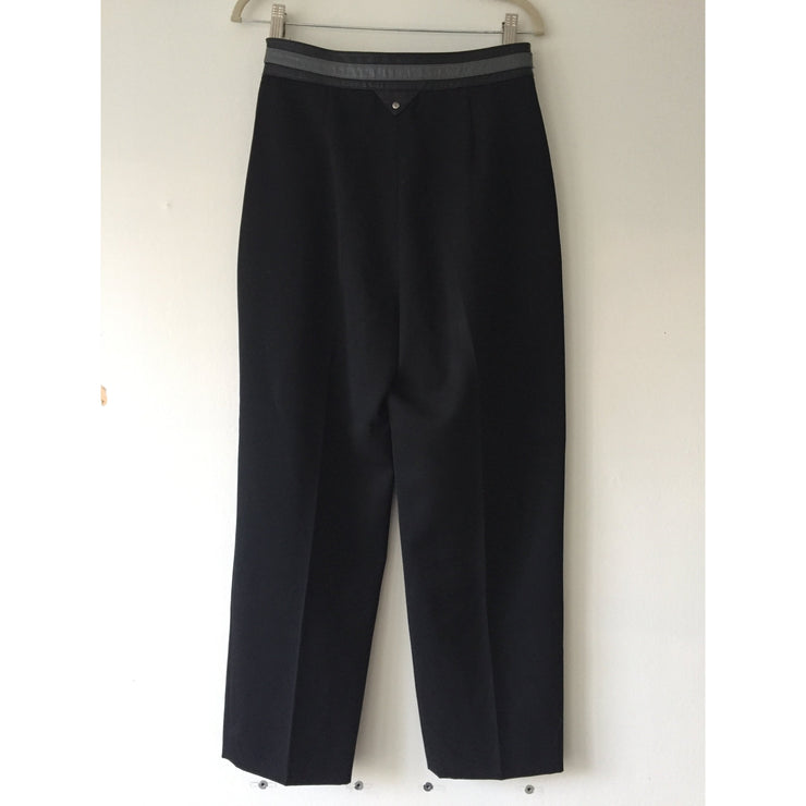 Vintage black wool pants by Paco Rabanne